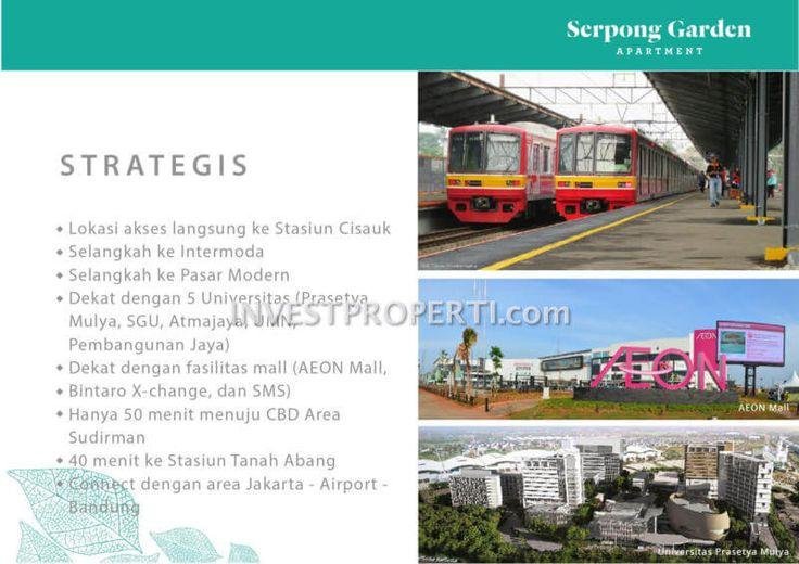 Lokasi strategis Serpong Garden apartemen Cisauk.