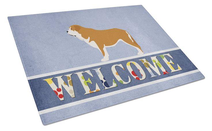 Mastin Epanol Spanish Mastiff Glass Cutting Board Large BB8349LCB