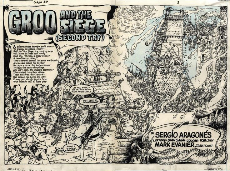 Groo #20 - double page spread original art