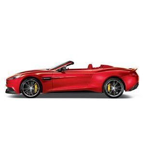 Every line of the 565-horsepower Vanquish Volante is purposeful. The purpose: speed.