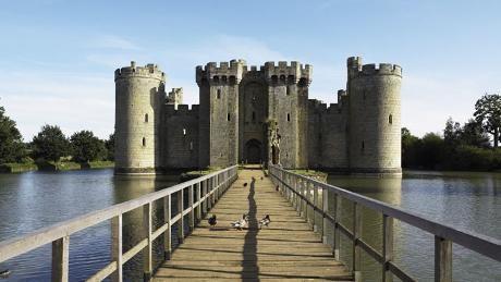 Bridge leading to Bodiam Castle, East Sussex