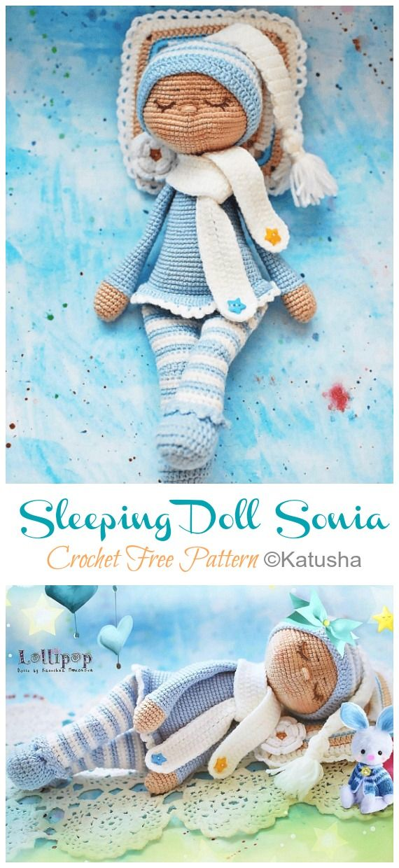 Amigurumi Pacifier Baby Doll Crochet Free Patterns