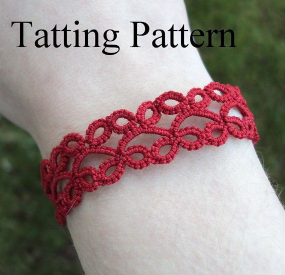 PDF Tatting Pattern Lillian Bracelet With and von TataniaRosa