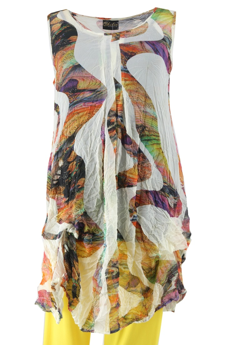 Tuniek crincle print met ophalen :: tunieken :: Grote maten mode | Bagoes fashion | grote maten mode online