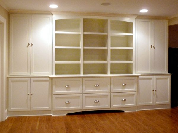 24 best images about built in wall unit on pinterest for Built in entertainment center using kitchen cabinets