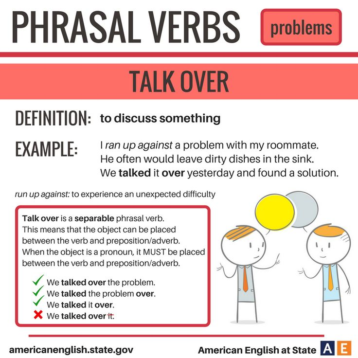 Phrasal Verbs: Problems - Talk Over
