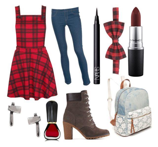 """Melanie Lumberjack"" by ermapaige ❤ liked on Polyvore featuring beauty, Timberland, Alessandro Dell'Acqua, Dorothy Perkins, MAC Cosmetics, Red Camel, momocreatura, Oribe and NARS Cosmetics"
