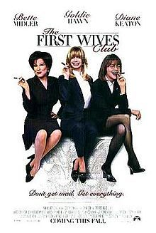 The First Wives Club is a 1996 comedy film, based on the best-selling 1992 novel of the same name by Olivia Goldsmith. Narrated by Diane Keaton, it stars Keaton, Goldie Hawn, and Bette Midler as three divorced women who seek revenge on their ex-husbands who left them for younger women. Stephen Collins, Victor Garber and Dan Hedaya co-star as the husbands, and Sarah Jessica Parker, Marcia Gay Harden and Elizabeth Berkley as their lovers.