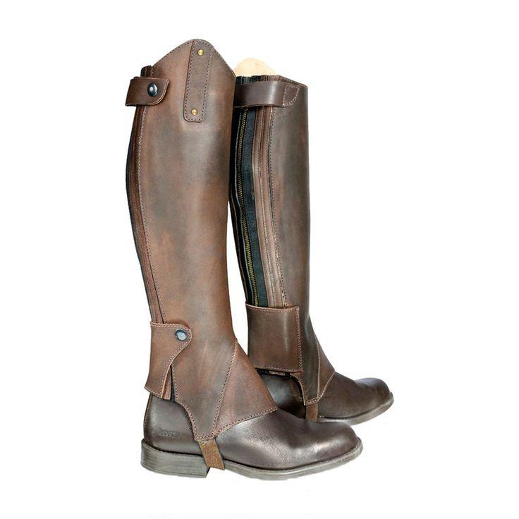 Leather Chaps w/Rivets | Half Chaps