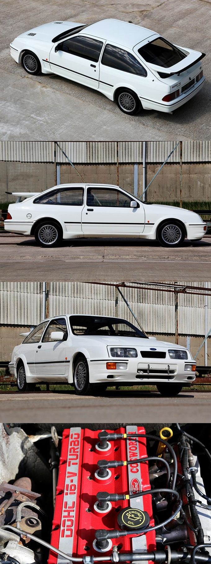 1986 Ford Sierra RS Cosworth / Germany UK / white red / www.autoblog.nl