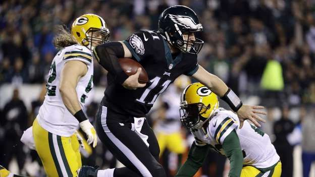 The semi-vaunted Eagles front seven failed to generate much pressure on Rodgers as the Packers QB op... - AP