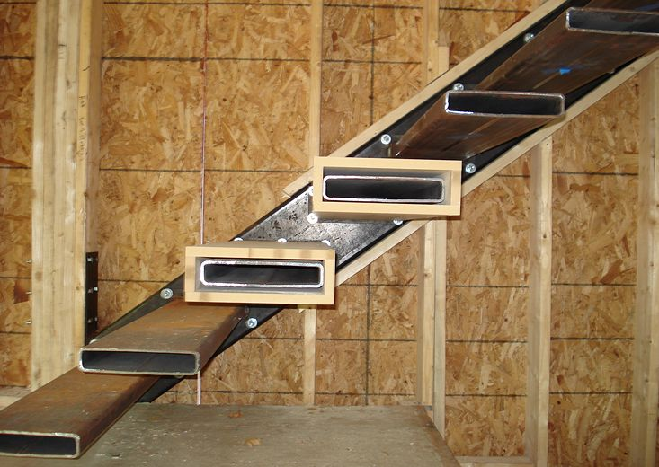 Stair structure floating stairs pinned by Floating stairs