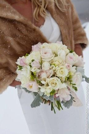 Winter wedding.  Flowers by Mountain Flowers of Aspen.  #aspen #wedding