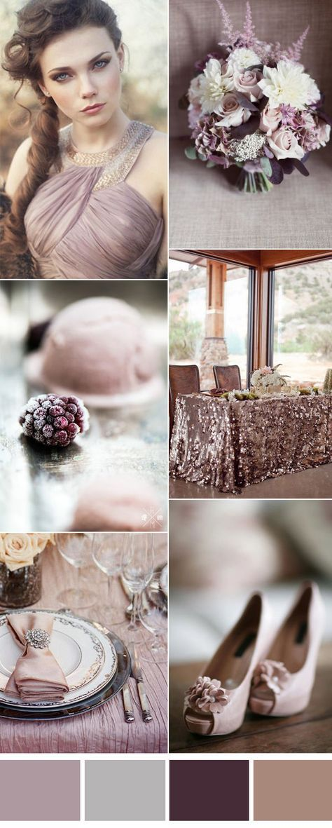 Six Pretty Mauve Wedding Color Combos for All Brides For the Home