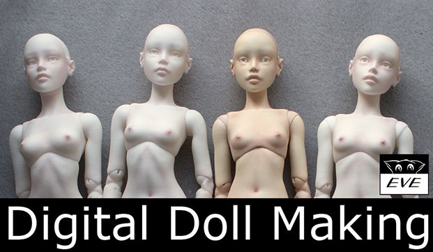 In this article we'd like to give you a quick look at how our dolls are made. This will include talking about 3D modeling software, 3D printing technology and manual post-production. If we were to describe the entire process in all it's detail it would take ages. That's why we tried and compress the information as much as possible. And still the article turned out to be rather lengthy, so take a deep breath and bear with us.