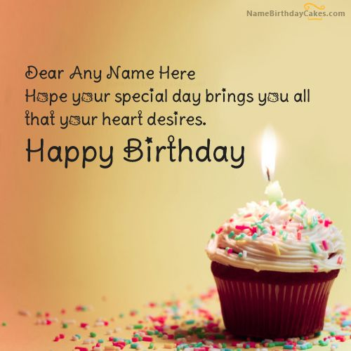 Cupcake Birthday Wish With Name Http://www.happybirthdaywishesonline.com/
