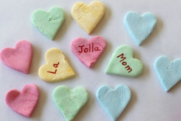 Homemade Conversation Heart Candy for Valentine's Day