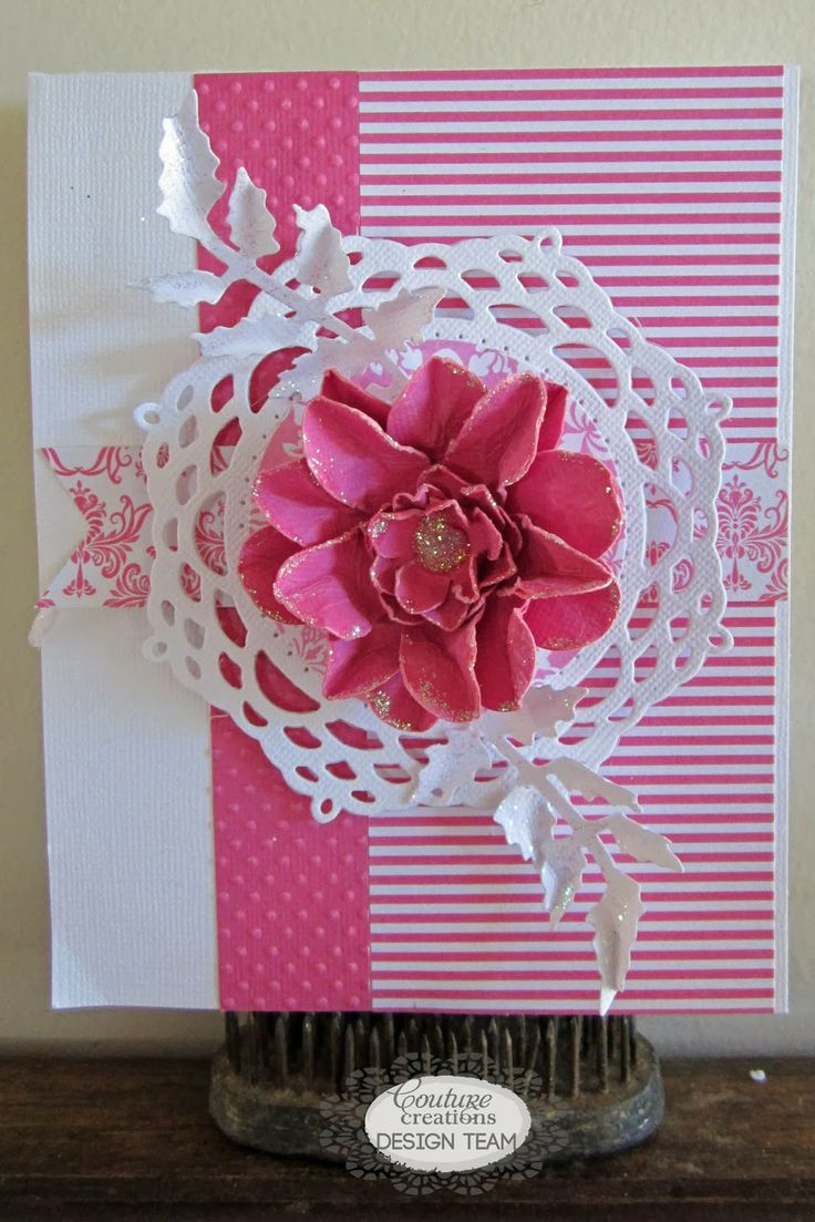Couture Creations: Simple Card Set by Kerrie Gurney  | #couturecreationsaus #decorativedies #embossingfolders #cards #allocassion #ornamentallacedies #flowers #pennants #coredinations