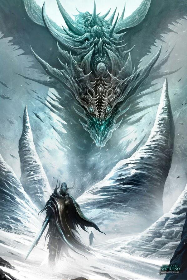 Dragon dibujante nocturno