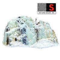 obj icefall phenomenon nature