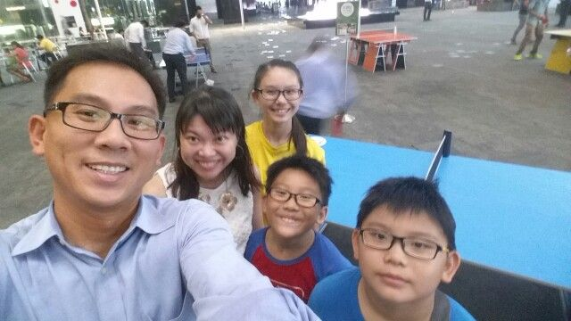 Table Tennis at Asia Square Tower -Sep 2015
