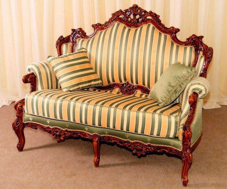 Vintage wooden sofa version popular and