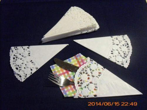 12 x Servietten - Tasche - weiß -Tisch - Deko-Taufe ,Kommunion - Hochzeit | eBay