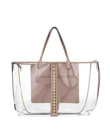 VALENTINO Rockstud 'Naked' shopping bag in pvc and napa leather