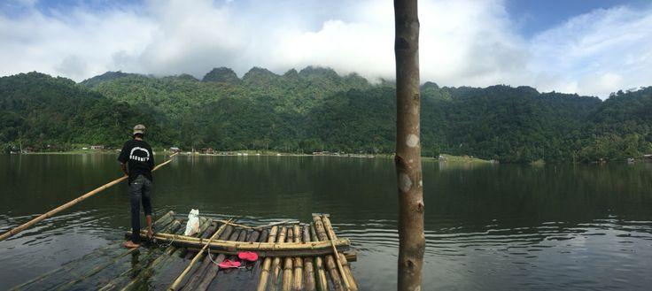 You can ride this small boat for sightseeing aroung Tarusan Kamang