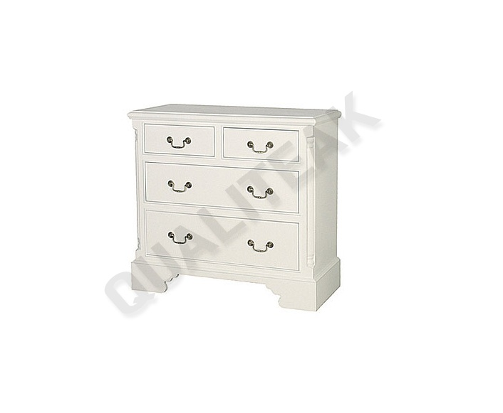 Please contacts us for asking detail about Georgian White 4 Drawer Chest of drawers