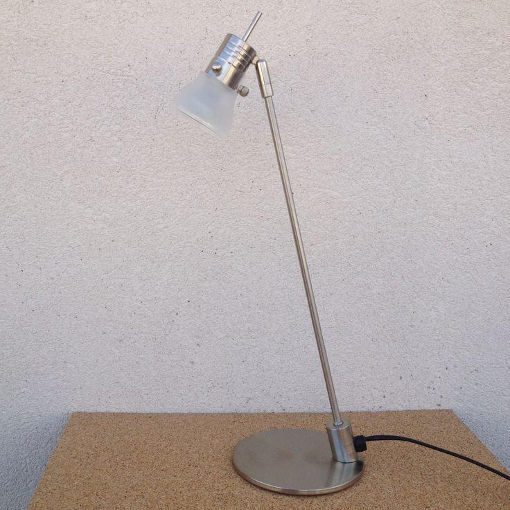 Luxury Prix uac prix d uachat uac Jolie lampe de bureau LED en m tal chrom et verre articul e en parfait tat Hauteur cm Le pied fait cm de