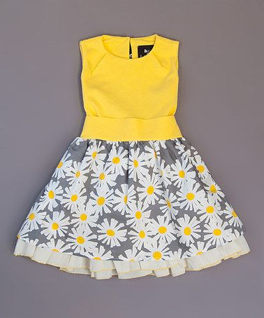 Yellow Veronica Ramblas Dress - Infant, Toddler & Girls by Llum #zulily #zulilyfinds