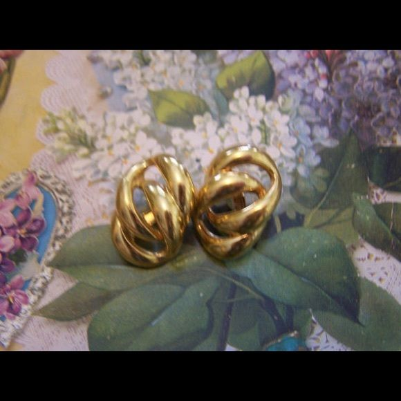Today only ‼️ Napier Gold Link Clip- Earrings These are very chic looking vintage (from the 1980's) Napier clip earrings! In mint condition. They are large intertwined links, gold tone, with screw backs on the clips for comfort. 1 inch long and 3/4 inch wide. Marked Napier. Napier Jewelry Earrings