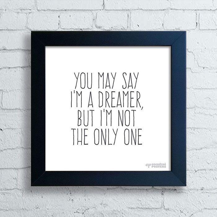 Quadro John Lennon Dreamer — www.encadreeposters.com.br