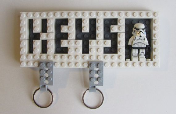 Wall mounted Star Wars LEGO Key Holder with Valet Key Chains,LEGO Themed Gift,wall mounted key holder, wall key organizer,home organization