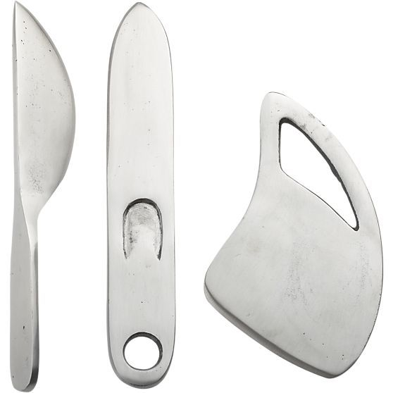 3-Piece Farmhouse Cast Iron Cheese Knife Set  | Crate and Barrel