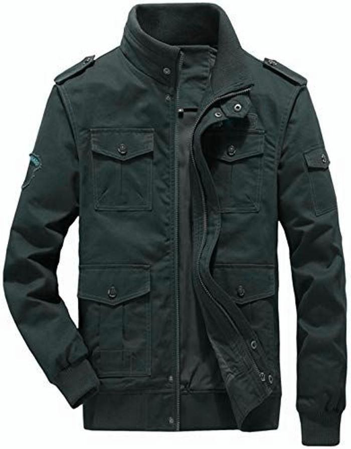 Hakjay Mens Military Coats for Men Jacket