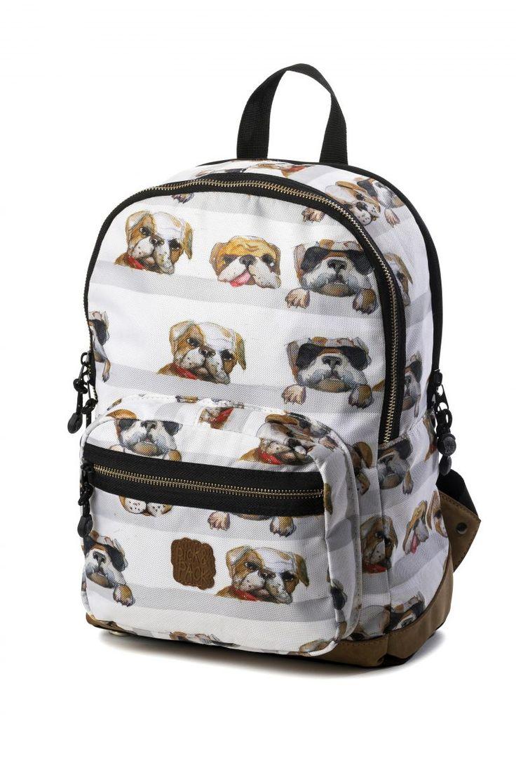 Mochila Dogs, Mochila Perros marca Pick and Pack, una propuesta fantástica para amantes de los animales. Tamaño mediano. Diseño original.
