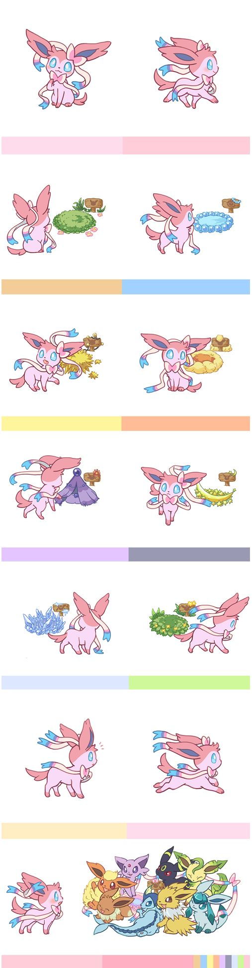 awww! It's a welcoming party for Sylveon!