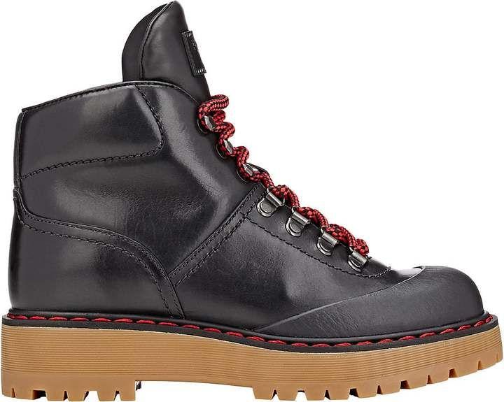 Prada Women's Felt Concealed-Wedge Hiking Boots