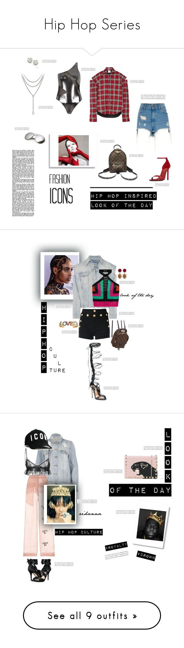"""Hip Hop Series"" by beautymanifesting ❤ liked on Polyvore featuring Vetements, Auriya, River Island, David Yurman, Yves Saint Laurent, Louis Vuitton, MM6 Maison Margiela, Balmain, Dsquared2 and Gucci"