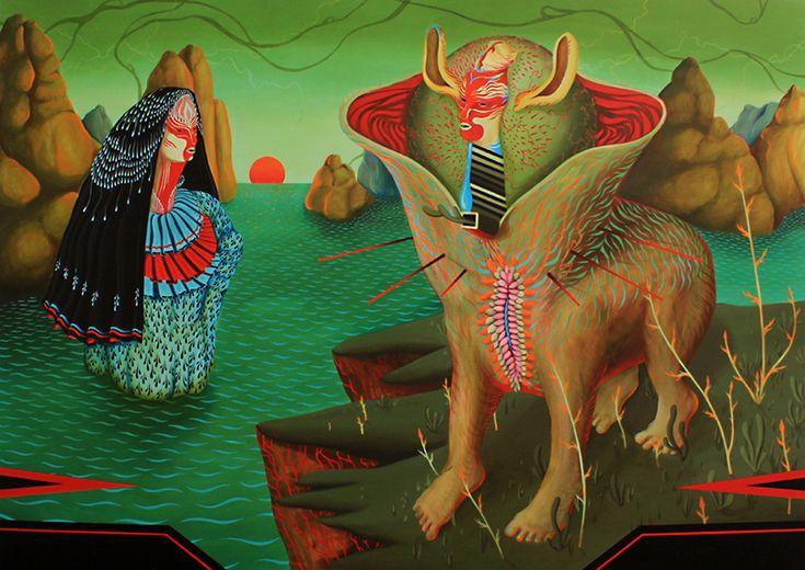 Aparição (2011)  Acrylic on canvas  172cm x 244cm