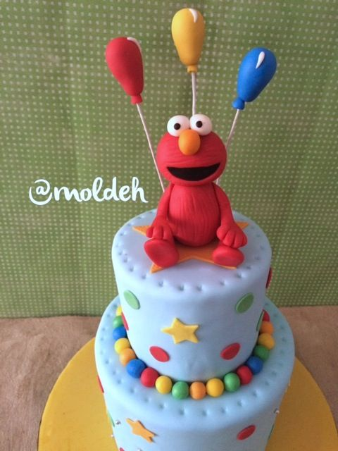 Pastel de Elmo para Cumpleaños // Elmo birthday cake