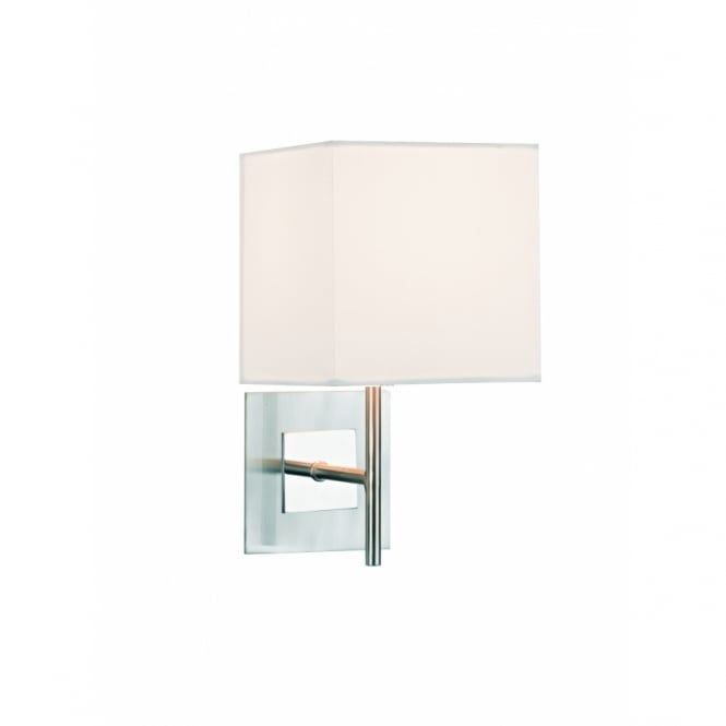 SIC0746/S1064 Sicily 1 light modern wall light satin and polished chrome finish