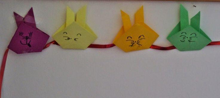 Coniglietti origami di Pasqua