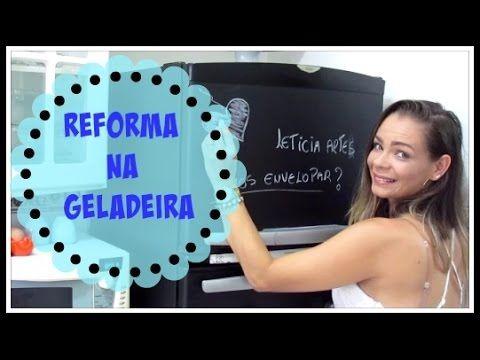 COMO  ENCAPAR  A  GELADEIRA  COM  ADESIVO/ CONTACT/LETICIA ARTES