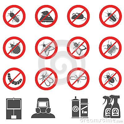 Pest Control Set - Download From Over 50 Million High Quality Stock Photos, Images, Vectors. Sign up for FREE today. Image: 63160297
