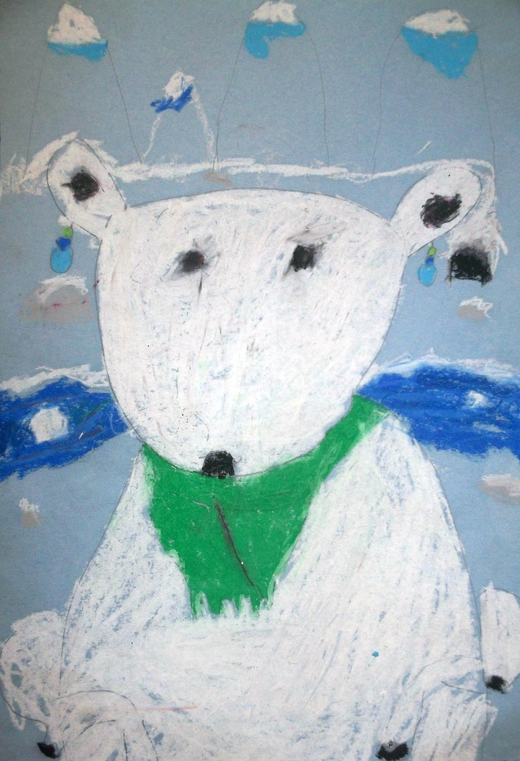 Common Core Art Project-Polar Bears:  Art Room 104