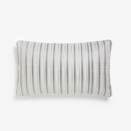 Image of the product Striped cushion cover with metallic embroidery