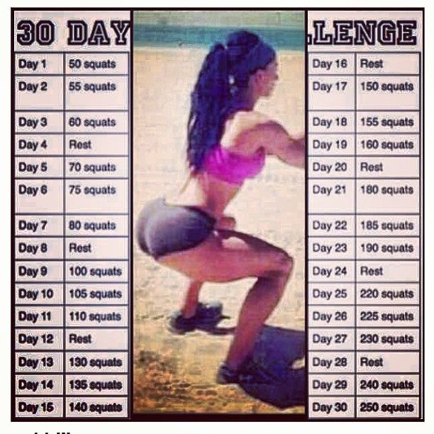 30 Day Squat Challenge I'm going to try this! Yolo gunna get that bootayyyyy!